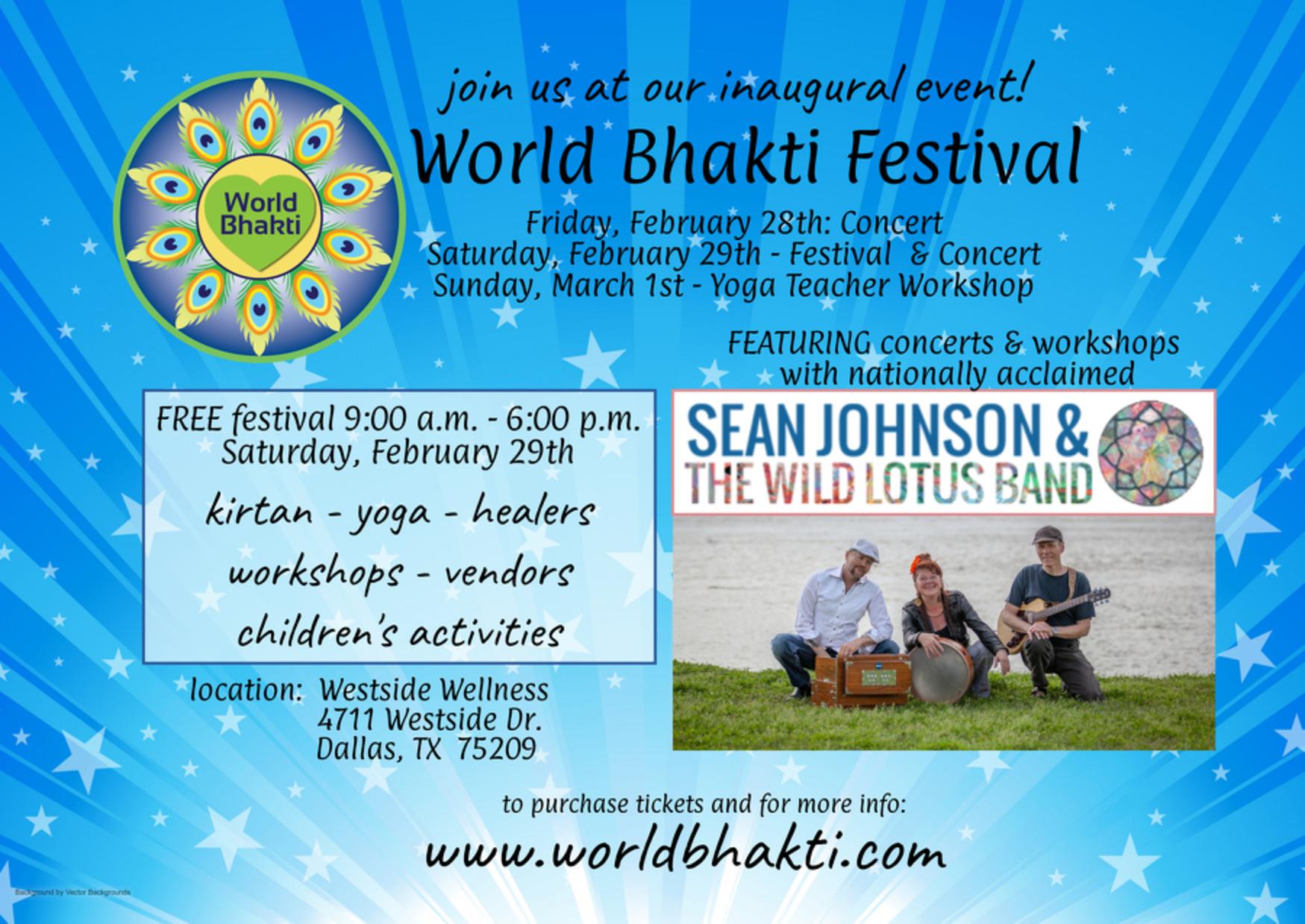 World Bhakti Yoga Festival Featuring Sean Johnson The Wild Lotus Band Community Impact Newspaper