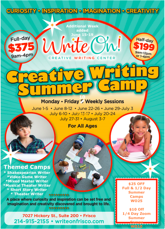 Creative writing summer program essay writing service free