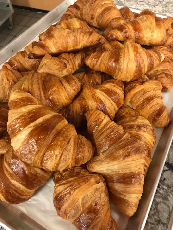 The croissant are to die for