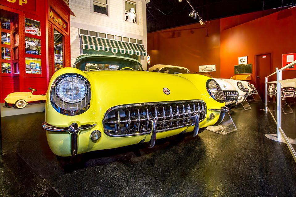 <p>The National Corvette Museum, a 115,000-square-foot building home to more than 80 classic cars.</p>