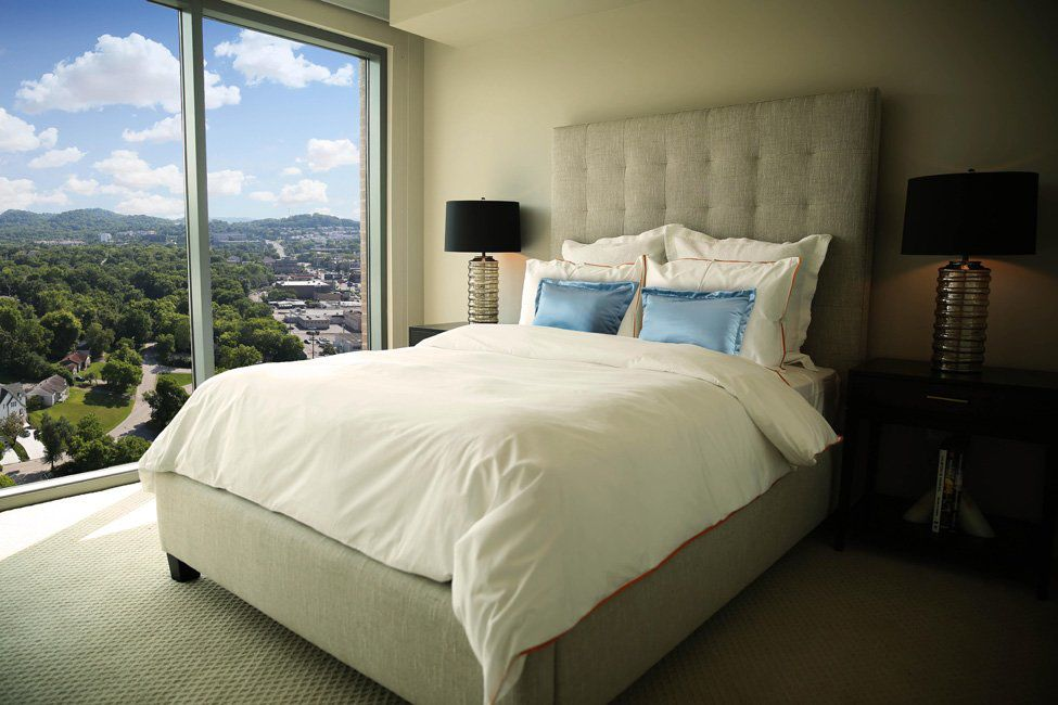 Bedrooms offer a nice view overlooking Green Hills