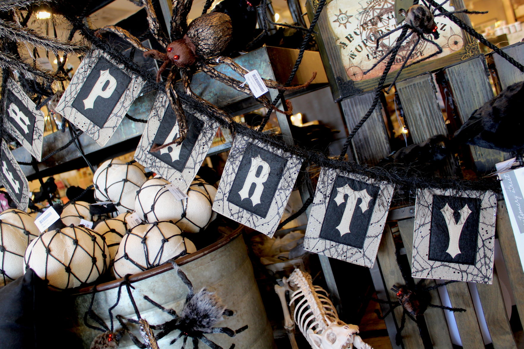 <p><em>Pictured is the Halloween party banner from The Giftery</em></p>