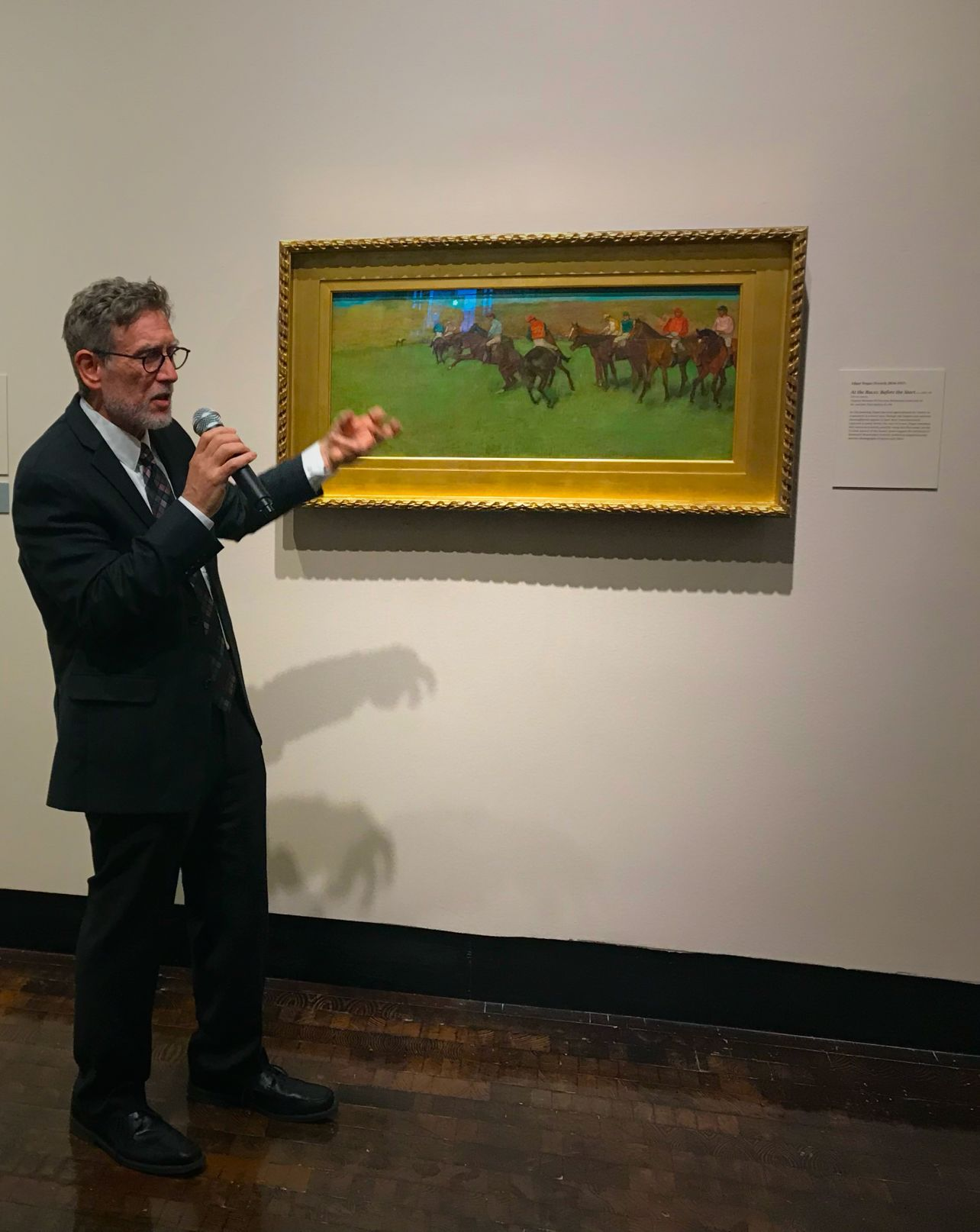 <p>Mark Scala, Chief Curator at the Frist Art Museum, leads a tour of 'Van Gogh, Monet, Degas, and Their Times: The Mellon Collection of French Art from the Virginia Museum of Fine Arts'</p>