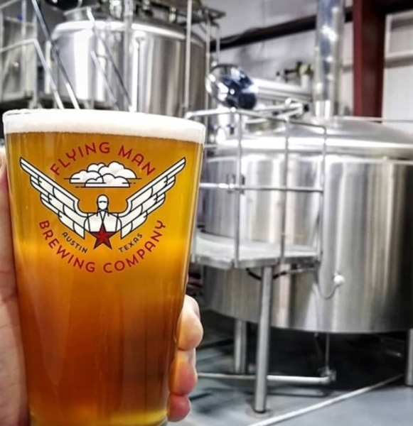 Flying Man Brewing Co. opened in Pflugerville in October 2017. (Courtesy Flying Man Brewing Co.)