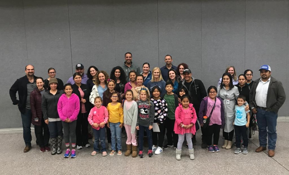 Families of dual language students gathered at Stewart Creek Elementary to hear Montgomery ISD's decision on program consolidation. (Courtesy Amy Jones)
