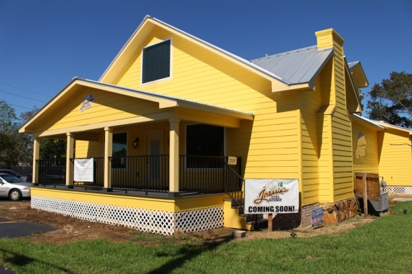 The restaurant is located in the Yellow House.