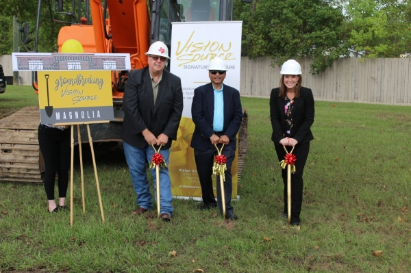Vision Source held a groundbreaking ceremony Sept. 27 for an annex to the Magnolia Landmark Building.
