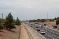 Construction is ongoing as the Arizona Department of Transportation works to expand Loop 101 through Chandler. (Damien Hernandez/Community Impact Newspaper)