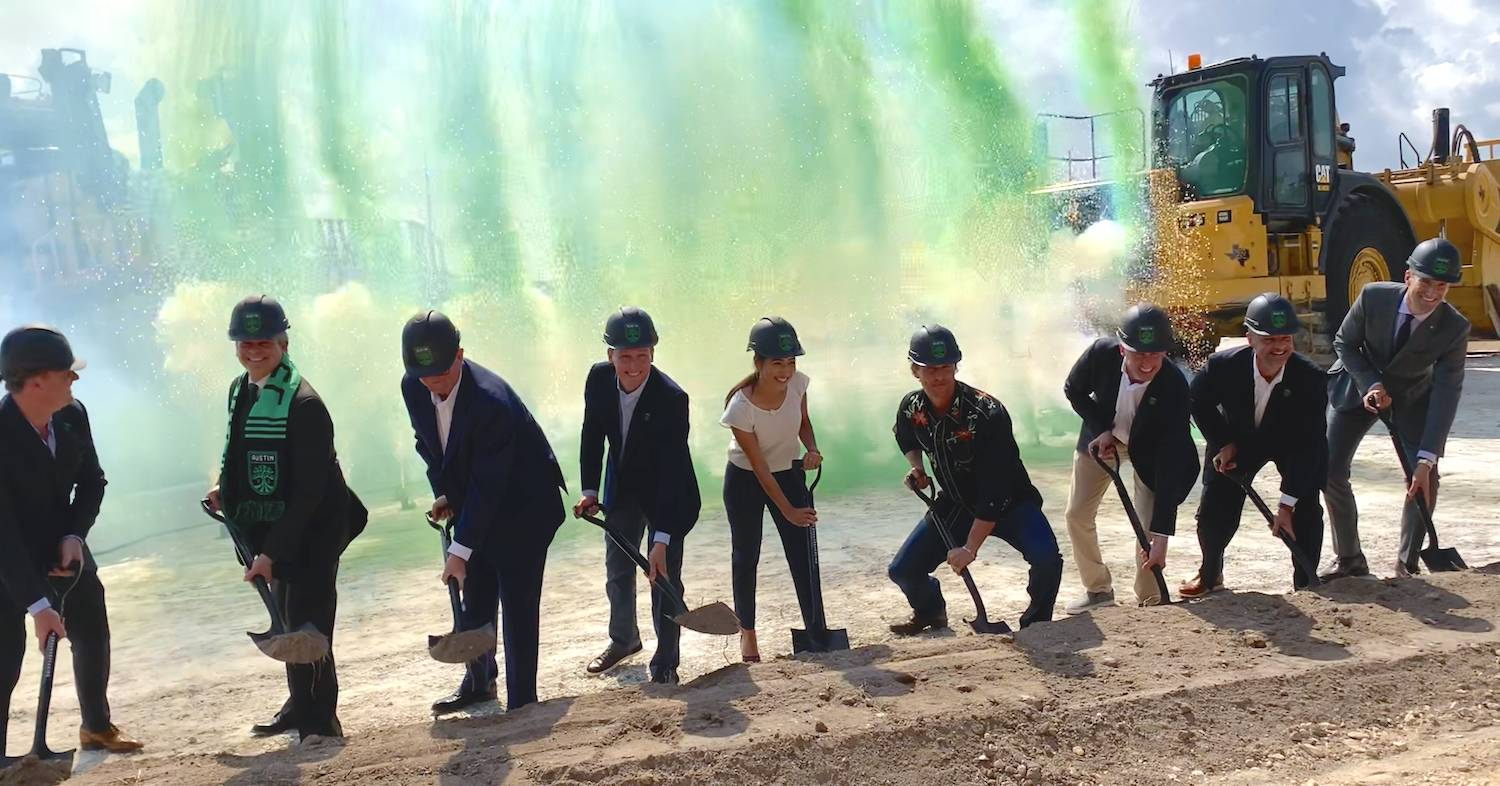Groundbreaking for the Austin FC stadium