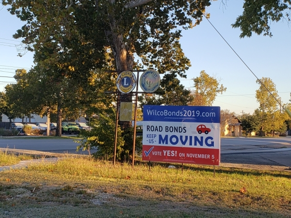 Voters will decide on a $447 million Williamson County roads and parks bond Nov. 5. (Ali Linan/Community Impact Newspaper)