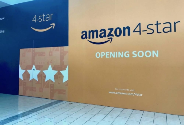 An Amazon 4-star store opens in Stonebriar Centre.