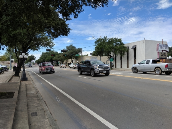 Parking on Main Street was removed in 2016 as a result of a project to add a center turn lane.