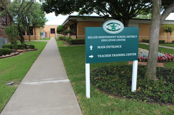 Keller ISD entrance sign