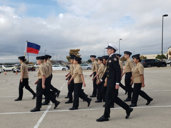 The Georgetown ISD NJROTC Annual Military Inspection took place Nov. 6. Ali Linan/Community Impact Newspaper