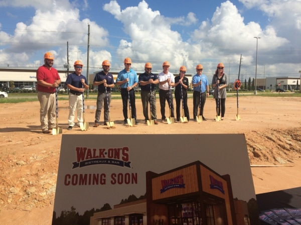Ground is broken on the new location of Walk-On's Bistreaux & Bar.