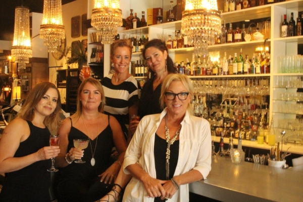 Jules Design Bar is celebrating its one-year anniversary in December. Pictured are (left to right) bartenders Irina Henofer and Kelly Rudniski, bar and events manager Rachele Lord, assistant Melissa Gomez and owner Julie Smith.