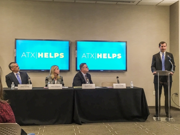 The ATX Helps coalition launched with a press conference on Nov. 7.