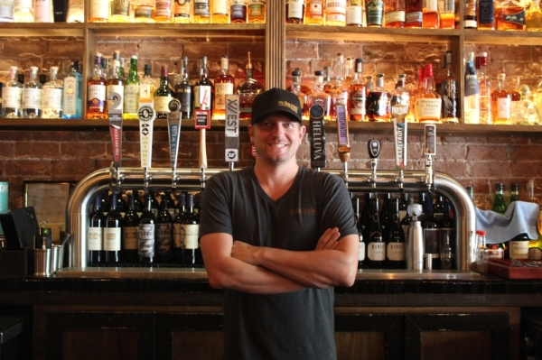 The Brickyard co-owner, Gavin Jacobs, said he hopes the restaurant is a place where people gather and relax. (Alexa D'Angelo/Community Impact Newspaper)