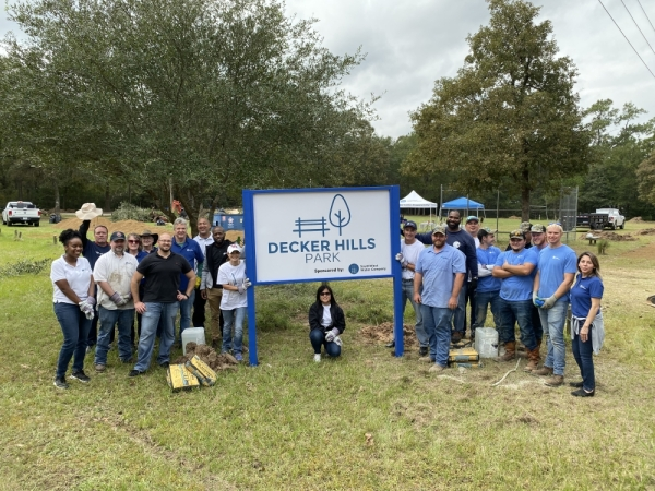 SouthWest Water Company employees cleaned up Decker Hills Park on Nov. 4. (Courtesy SouthWest Water Company)