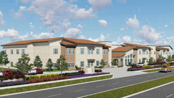 Buda Oaks Assisted Living and Memory Care is under construction on Cabelas Drive. (Courtesy Buda Oaks)