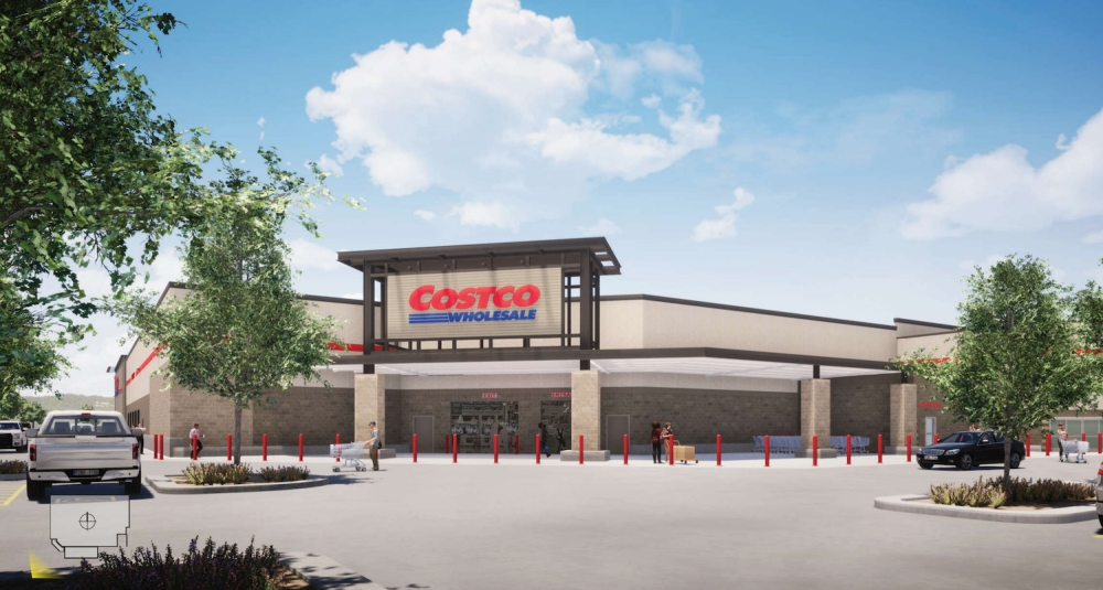 This rendering depicts the front of the Costco planned for Georgetown. (Courtesy city of Georgetown)