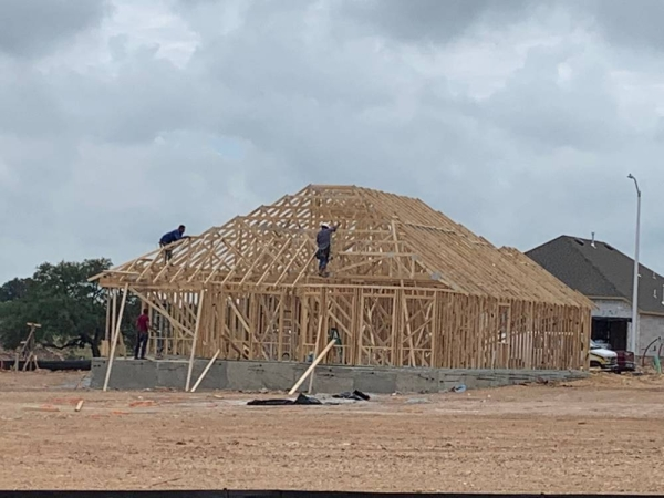 New houses are being built in the Veramendi development, but a 188-acre residential section is pending approval by the city. (Ian Pribanic/Community Impact Newspaper)