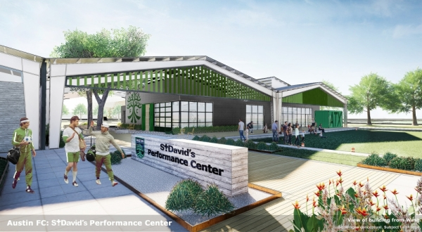 St. David's HealthCare is the founding partner with Two Oak Ventures, the ownership group of Austin FC. (Courtesy Austin FC, STG Design)