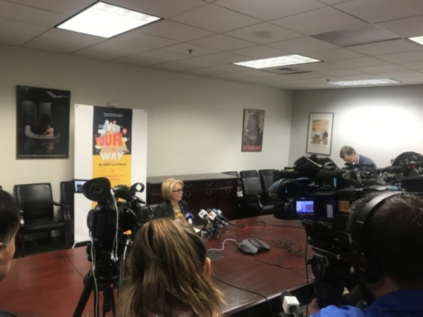 Ahead of the Dec. 14 mayoral runoff election for the city of Houston, Harris County Clerk Diane Trautman announced plans Nov. 12 to move the county's ballot box collection center to a more centralized location in hopes of expediting election result returns. (Emma Whalen/Community Impact Newspaper)