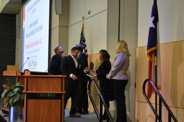 Boatman Construction of Tomball received the family-owned Small Business of the Year award from Lone Star College-Small Business Development Center. (Vanessa Holt/Community Impact Newspaper)
