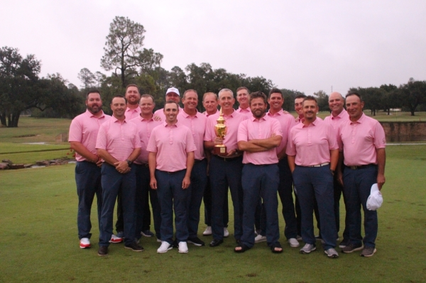Chad Donegan and the Southern Texas PGA secured the 2019 Texas Joe Black Cup in October. (Courtesy City of New Braunfels)