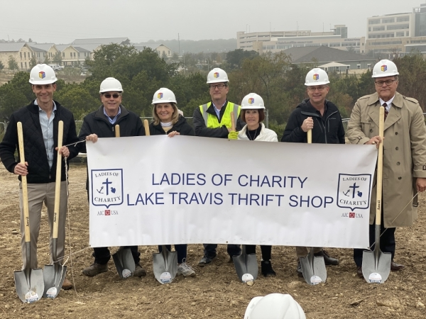 Ladies of Charity Lake Travis held its groundbreaking event Nov. 14 at the site of its new thrift shop location at 440 Medical Parkway Drive. (Brian Rash, Community Impact Newspaper)