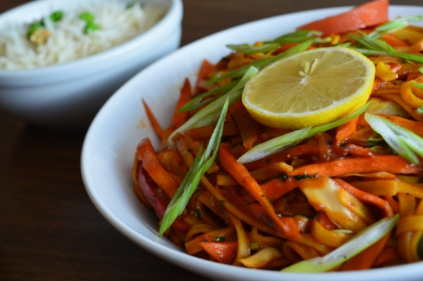 Vegetable chow mein ($9.99) Limbu makes a traditional Chinese dish made from egg noodles with a Nepali street-style sauce. (Iain Oldman/Community Impact Newspaper)