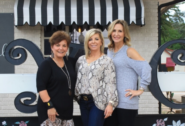 From left: co-owers Deb Haring, Angie McClelland and Robin Ebrecht opened Yaya Club Clothing in November 2018. (Jen Para/Community Impact Newspaper)