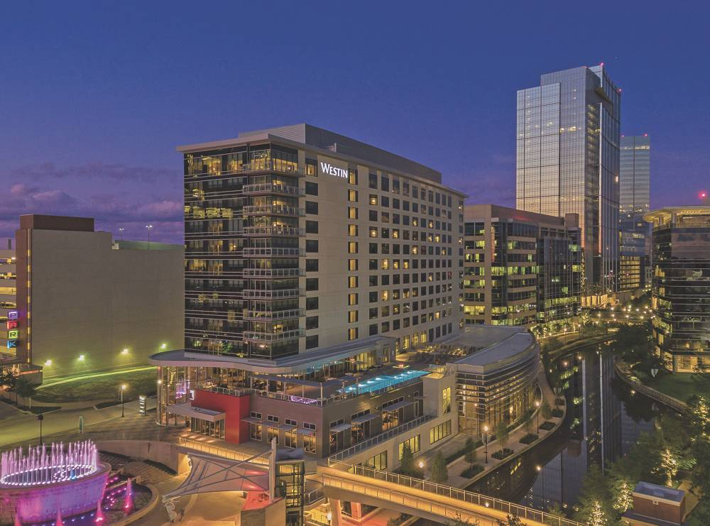 The Westin at The Woodlands is one of three Howard Hughes Corp. hotels in The Woodlands that could be sold. Courtesy Howard Hughes Corp.