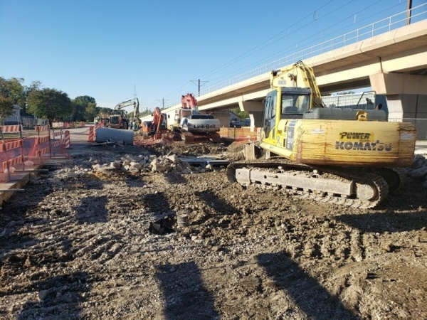 Main Street construction in Richardson