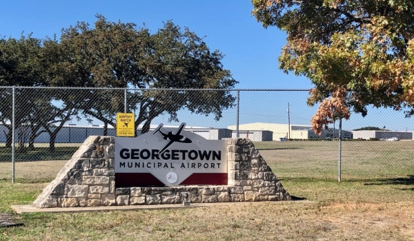 The Georgetown Municipal Airport is located at 500 Terminal Drive, Georgetown. (Sally Grace Holtgrieve/Community Impact Newspaper)