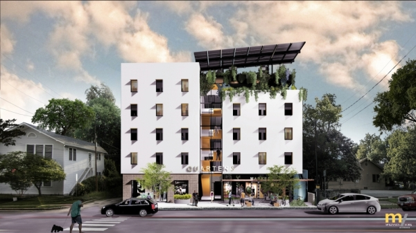 Quarters. Rendering courtesy McKinney York Architects