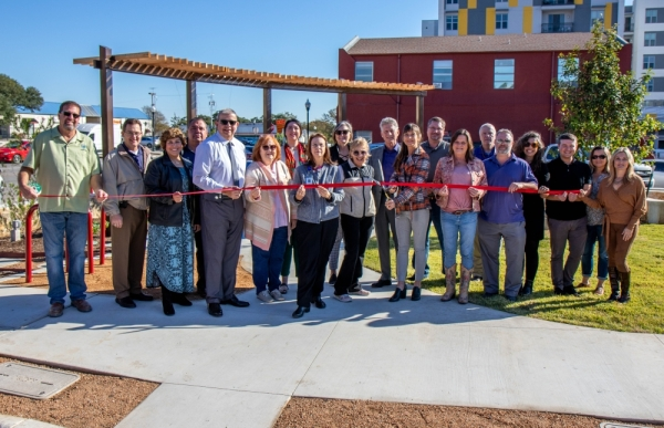 The San Marcos mobility hub opened on Nov. 18, immediately after the ribbon-cutting ceremony. (Courtesy city of San Marcos)