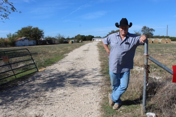 Kent Talley ranches on the Bryson Farmstead. (Marisa Charpentier/Community Impact Newspaper)