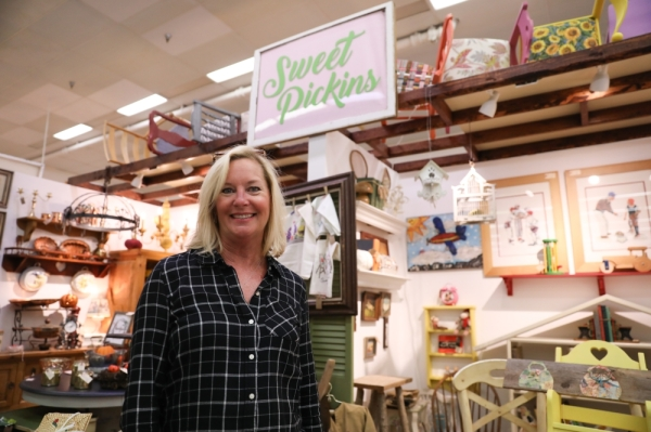 Clare Freeman is the store manager and also has her own dealer space at the Richardson location of Mercantile.