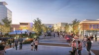 The Mustang Square development will bring stores, restaurants, entertainment businesses and residential communities to the southwest corner of SH 121 and Rasor Boulevard.