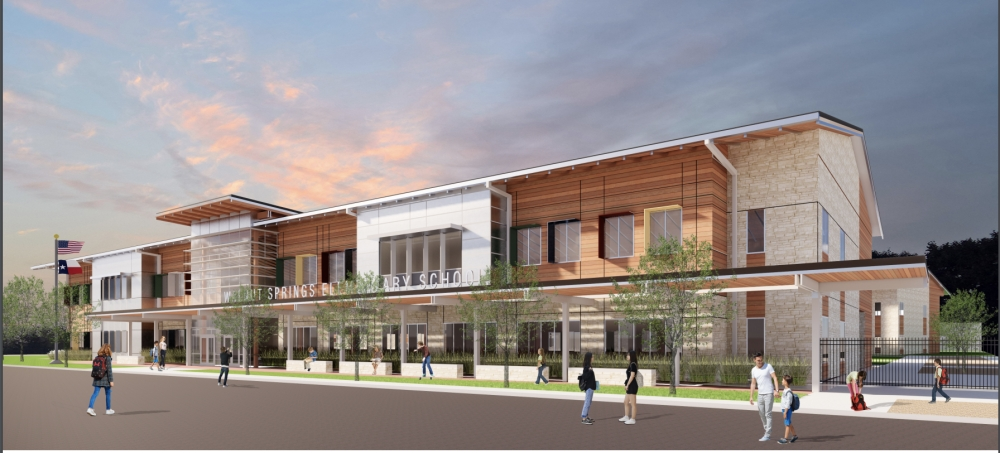 A rendering of the proposed Walnut Springs Elementary School.