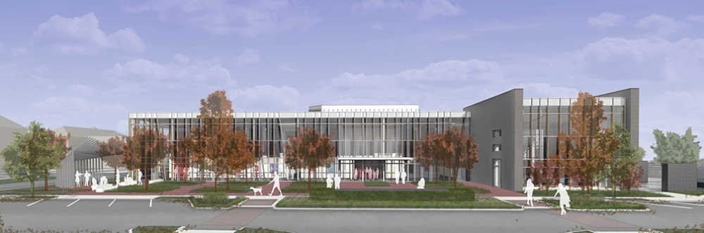 The Coppell Arts Center's completion in May will mark the final leg of construction in the city's old town area. (Rendering courtesy city of Coppell)