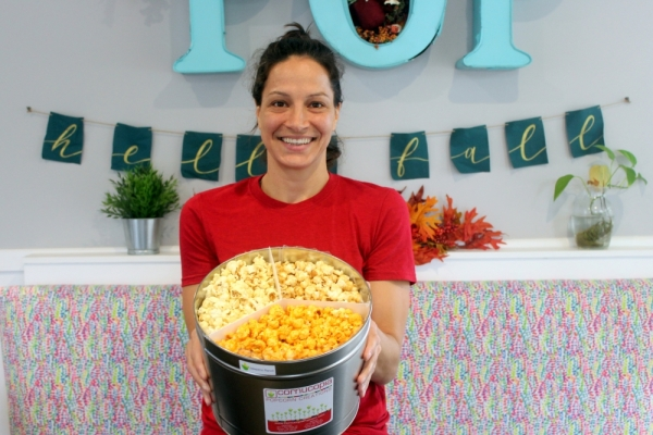 Nadia Elhaj now has two locations of Cornucopia Popcorn, which she started in 2008. (Amy Denney/Community Impact Newspaper)