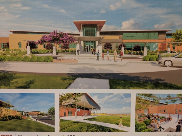 Designs for Pflugerville ISD's newest elementary school were on display at the Nov. 21 Board of Trustees meeting. (Rendering courtesy Pfluger Architects)
