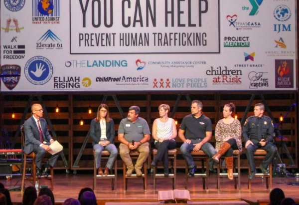 Montgomery County Coalition Against Human Trafficking members joined in a panel discussion at The Woodlands United Methodist Church at the coalition's Oct. 10 event. (Ben Thompson, Community Impact Newspaper)