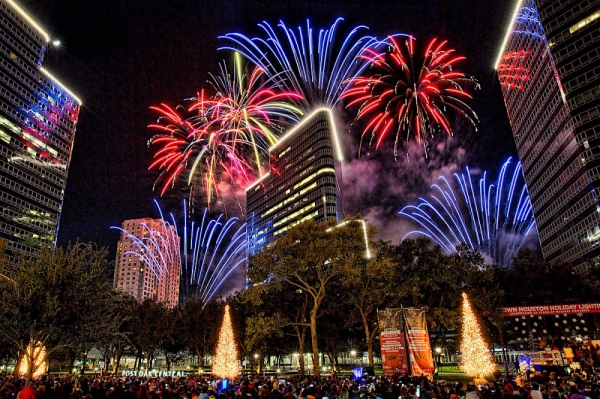 Uptown Houston fireworks