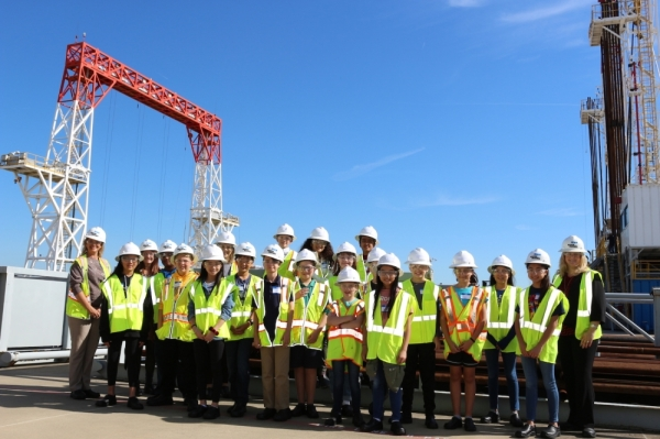 A total of 20 Tomball ISD students visited the Baker Hughes education center on FM 2920 in Tomball on Nov. 19. (Courtesy Winkler Public Relations)