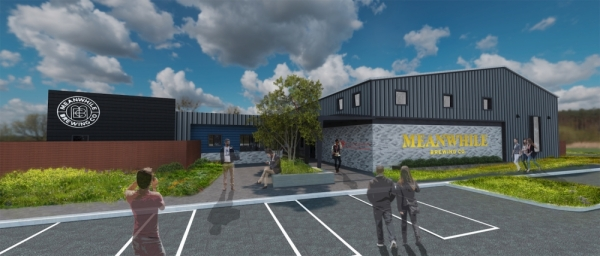 Meanwhile Brewing Co. will open a Southeast Austin taproom on a 3.7-acre property in April 2020. (Rendering courtesy Cultivate PR)