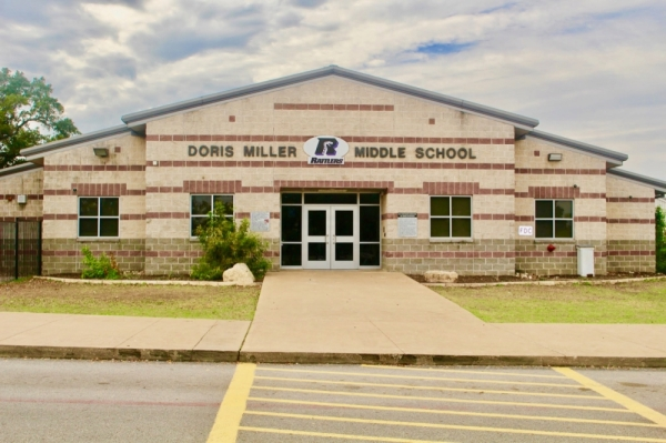 Renovations to Miller Middle School include a new roof for the gym and cafeteria, among other projects. (Evelin Garcia/Community Impact Newspaper)